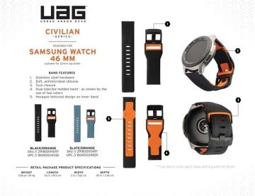 Dây UAG Civilian Strap cho đồng hồ Galaxy Watch (22mm)